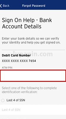 contoh user id dan password