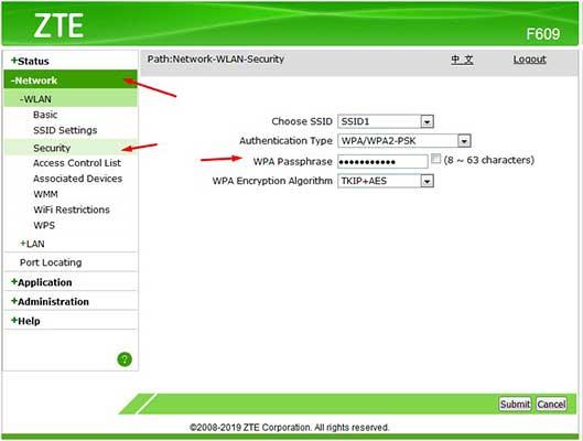 lupa password zte f609 tanpa reset