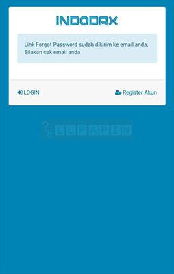 reset Password Indodax