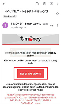 reset Password t money