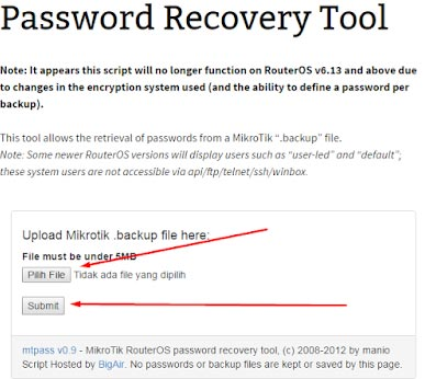 Cara Melihat Password Mikrotik