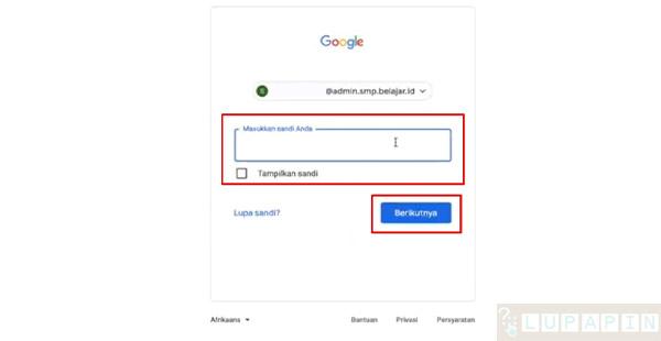 Reset Password Belajar.id