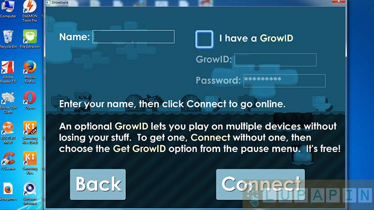 Syarat Reset Password Growtopia