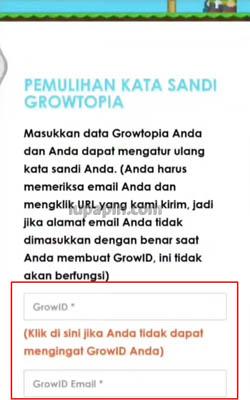 cara mengetahui password growtopia yang lupa