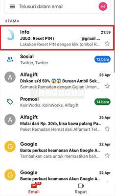 email veifikasi julo