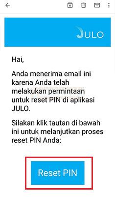 reset PIN Julo