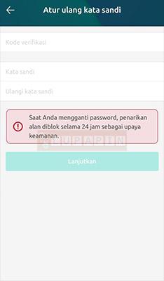 verifikasi Password Freewallet