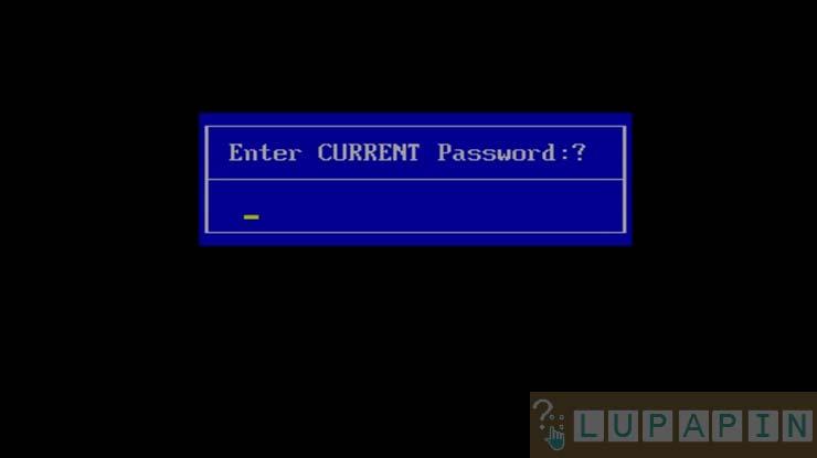 Password Standar BIOS Acer