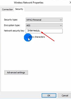 password wifi di pc