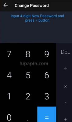 reset Lupa Password HideX