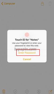 unlock notes iphone