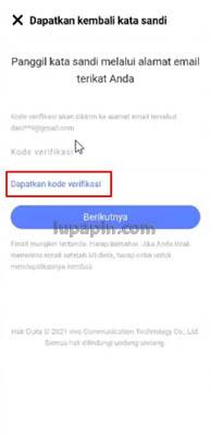 kode verifikasi akun