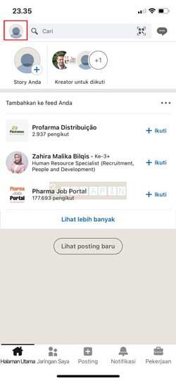 Buka Aplikasi Linkedin