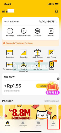 Buka Aplikasi Neo 1