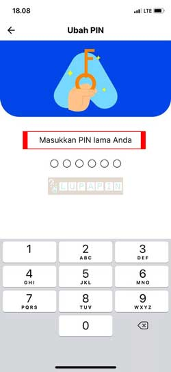 Masukkan PIN Lama 2