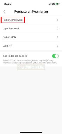 Pilih Perbarui Password