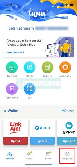 Buka Aplikasi New Livin by Mandiri